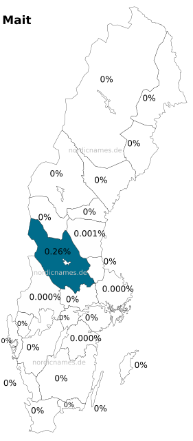 Swedish Regional Distribution for Mait (f)