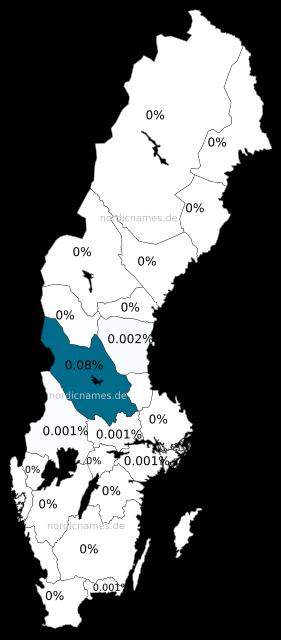 Swedish Regional Distribution for Finn (m)